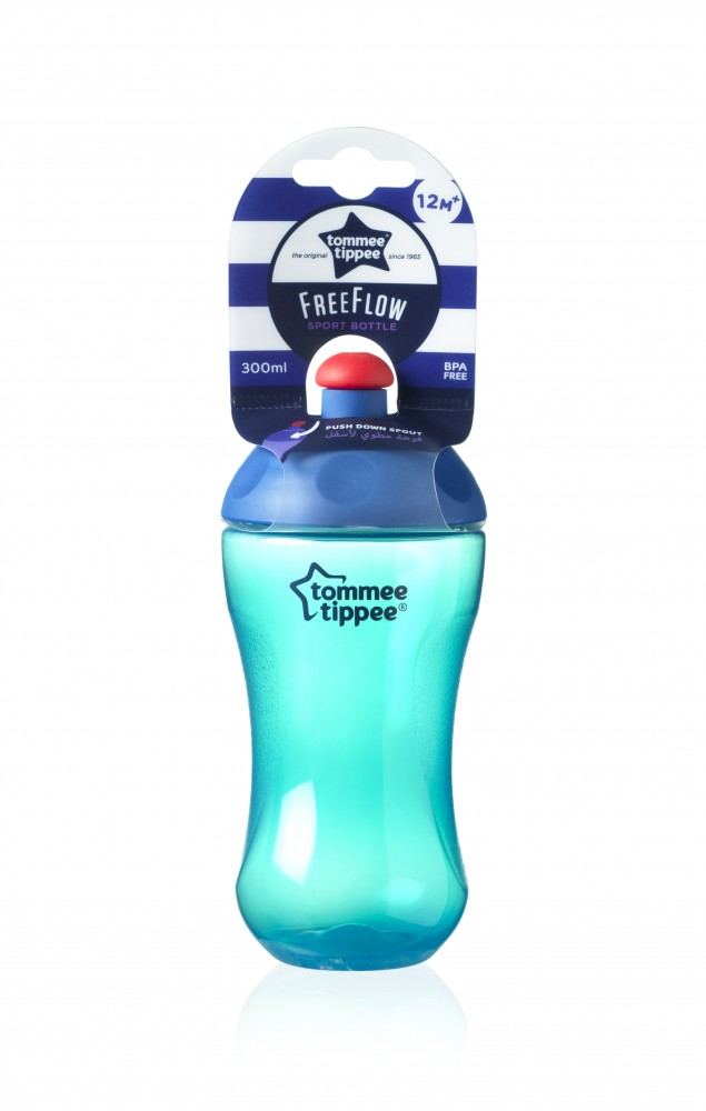 babashop.hu - Tommee Tippee FreeFlow Sport Bottle pohár 300ml 12+