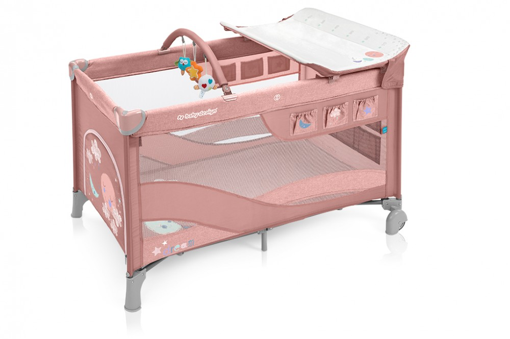 Baby Design Dream multifunkciós utazóágy - 08 Pink 2019