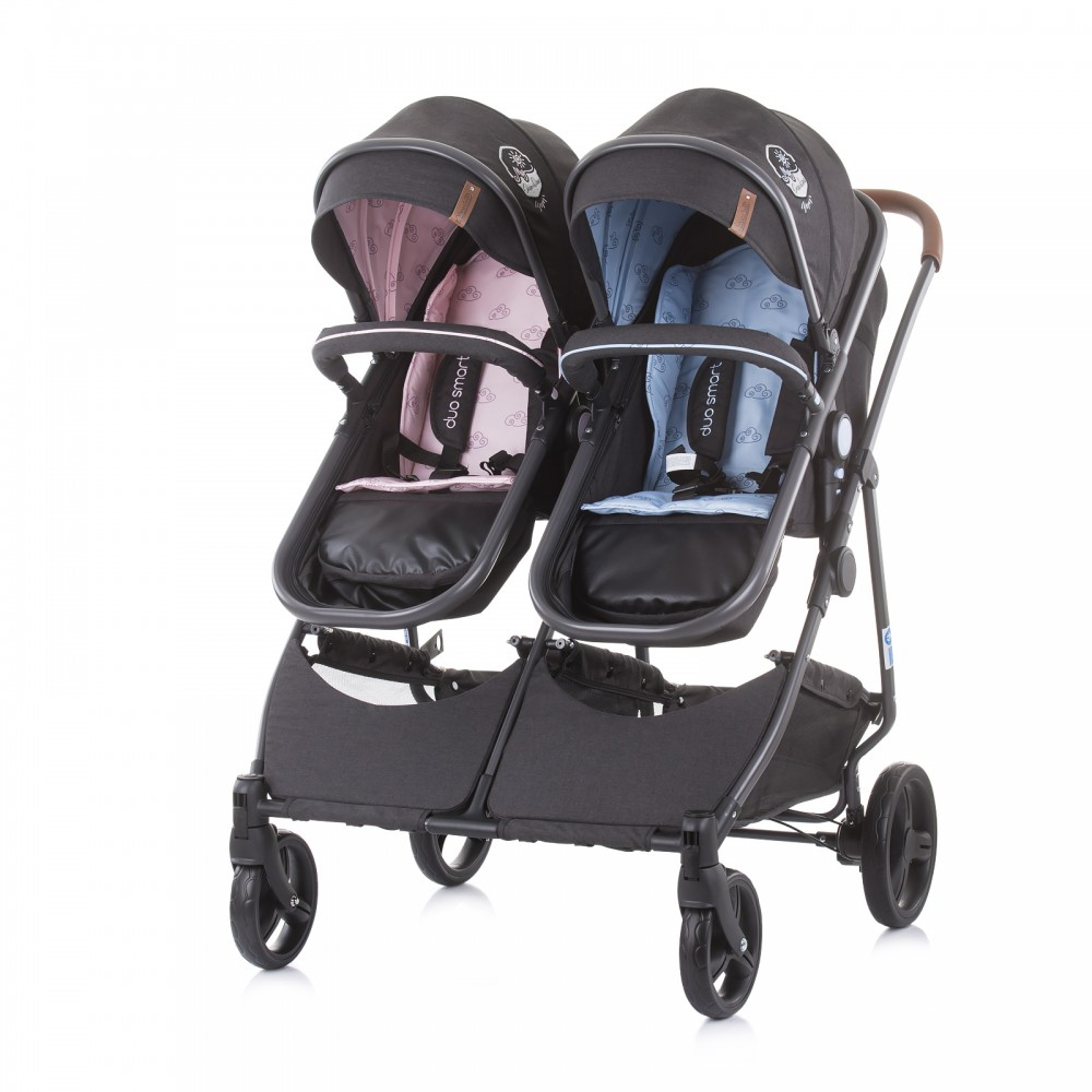 babashop.hu - Chipolino Duo Smart iker babakocsi - Blue/Pink 2021